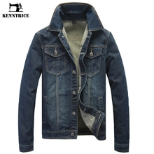 KENNTRICE Denim Jacket Men's Jean Jacket Jeans Jacket Men Fall 2017 Fashion Clothes Male 5XL Plus Size Autumn Coat Men