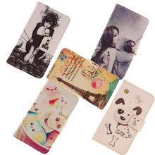 AIYINGE  1 Pieces Mobile Phone Shell Painting PU Leather Cover Flip Design Case For Argos Bush 5 Inch Android Smartphone