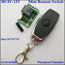DC5V 4V 4.5V 6V 7.4V 9V 12V Remote Switch Mini Wireless Remote Control Switch Micro Relay Receiver Transmitter ASK Learning Code