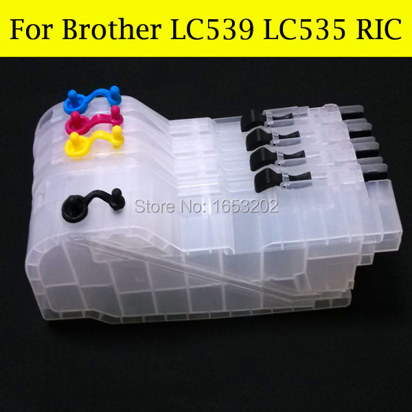 8 Pieces/Lot Ink Cartridge For Brother DCP-J100 J200XL MFC-J200 DCP-J105 J105XL Printers With LC539 535<br><br>Aliexpress