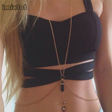 Imixlot 2017 Limited New Arrival Fake Septum Sexy Women Body Chain Jewelry Bikini Waist Belly Beach Harness Slave Necklace