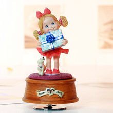 Gift rotating decorations music box birthday wedding and Christmas gift little girl girlfriend gifts free shipping