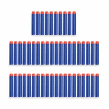 50Pcs 7.2x1.3cm Sniper Rifle Bullets Darts for Kids Toy Gun Foam Refill Darts Hole Head Bullets Christmas Gift Red blue yellow