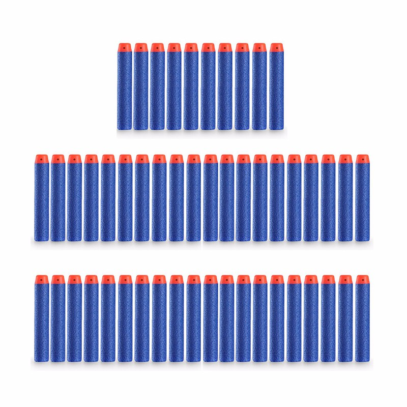 50Pcs 7.2x1.3cm Sniper Rifle Bullets Darts for Kids Toy Gun Foam Refill Darts Hole Head Bullets Christmas Gift Red blue yellow(China (Mainland))