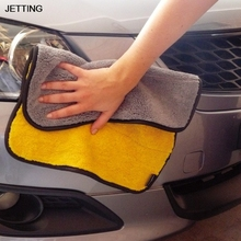 JETTING 1 pcs Car Window Cleaning Cloth Microfiber Waffle Weave Car Cleaning washes cloths Drying Towels auto car care 45*38cm(China)