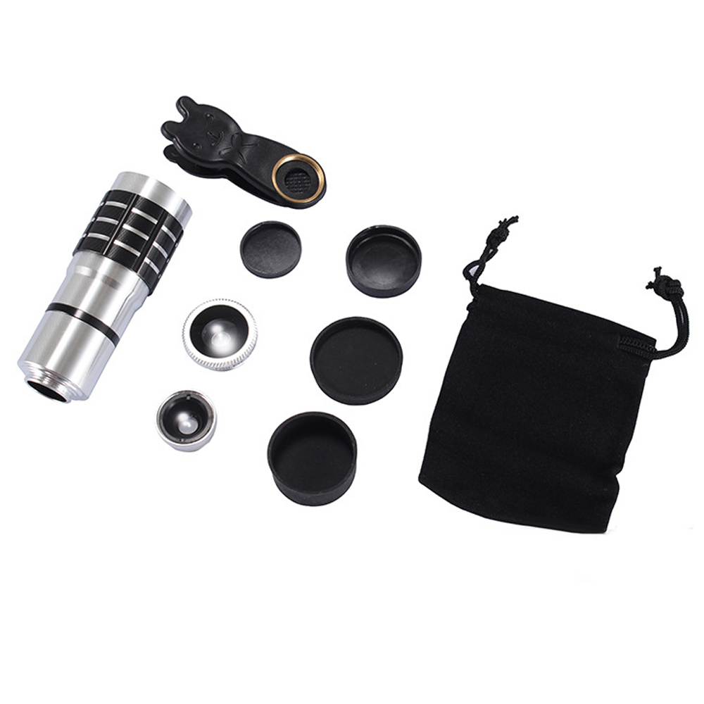 JRGK Universal 10X Camera Telephoto Lens mobile Phone Telescope with Rabbit Clip 4 in 1 Wide Angle Macro Mobile Phone Len 8