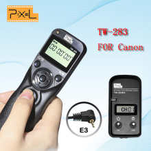 Pixel TW-283 E3 TW-283 Wireless Timer Remote Shutter Release Timing Control For Canon PowerShot G10 G15 G12 EOS 1100D 1000D 70D(China)