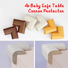 4pcs/SET Baby Safe Desk Table Corner Security Cushion Anti-crash Protector Soft with 4pcs Sticky Paper(China)