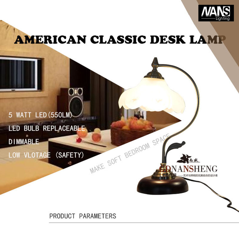 Luxurious Ancient Garden European Style Table Lamp Bedside Lamps 5W LED Source AC90-260V Dimmerable<br><br>Aliexpress