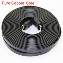 Flat Noodle HDMI Cable Male to Male M/M V1.4 Full HD 1080P 3D Pure Copper Core For HDTV For PSP