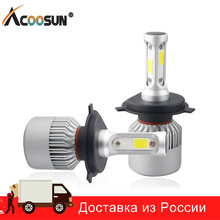 S2 Super Bright COB LED Chips H4 Led Bulb H7 H11 H1 9005 9006 9007 Headlight Car Led Light Hi Lo Beam 12V Fog Light Automobile
