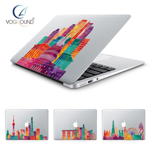 VOGROUND Beautiful City Vinyl Sticker Anti-Scratch Ultra Thin Color Famous Architecture Decal for Macbook 11 12 13 15 inch