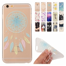 Unique Phone Case TPU Skin for Apple iPhone 5 5S 6 6S 6Plus 6S Plus Soft Silicon Cover Transparent Cat Lemon Thin Gel Cases
