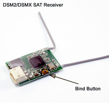 DSM2/DSMX Compatible Satellite Receiver for DSM2 DSMX Radios Transmitter Rc Helicopters Rc Airplane and Micro Quadcopte