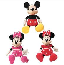 1pcs 40cm Hot Sale Soft Doll Lovely Mickey Mouse and Minnie Mouse Stuffed Plush Toys High Quality Gifts for children(China)