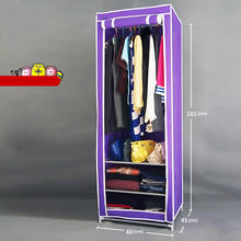 Staygold Single Trumpet Steel Frame Reinforced Thicker Wardrobe Student Dormitory Closet Folding Cabinet(China)