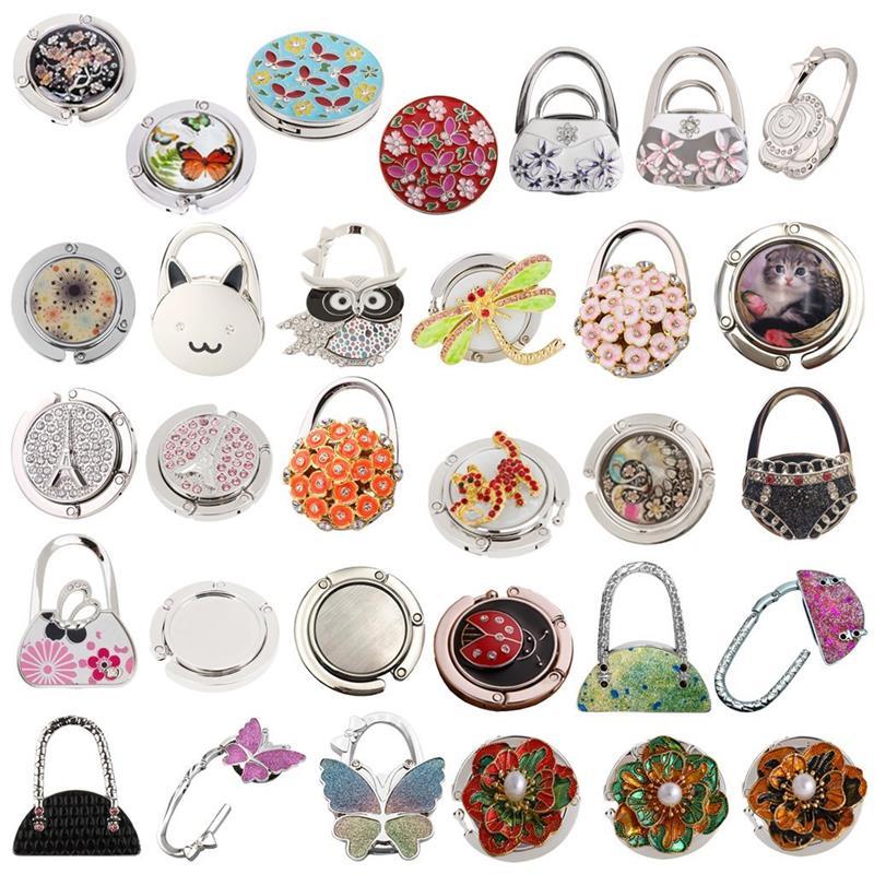 Ladies Butterfly Pattern Folding Handbag Purse Hanger Hook For Table Diversified In Packaging Bathroom Fixtures Bathroom Hardware