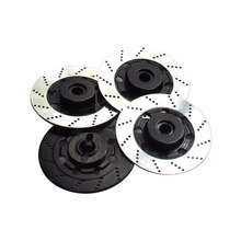 4PCS Aluminum 12mm Wheel Hex Hub Brake Disc Disk Set for 1/10 HSP TAMIYA Sakura Drift Racing RC Car(China)