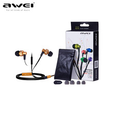 Awei ES900i In Ear Earphone earhud with remote mic for apple iphone mobile phone mp3 pc ios(China)