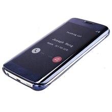 S-GUARD Clear View Mirror Smart Flip Case Samsung Galaxy A7100/A7 2016/A5 2016 A310/A3 2016 A8 A9 2015 PC Cover Leather Case