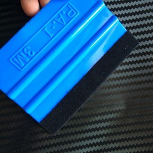 200Pcs 3M Blue Squeegee With Felt Edge For Car Van Bike Wrap Wrapping Squeegee Tool Scraper Car Wrap Applicator Tool n