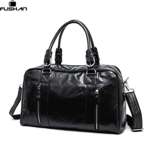 Fashion genuine leather Men Travel Bag Overnight Tote Duffle Bag Brand Designer Large Capacity Hand Luggage Shoulder Bag