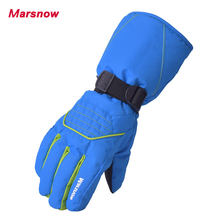 2017 Marsnow New Design Waterproof Men Skiing Gloves Women Snowboard Mittens Snowboard Hiking Windproof Quality Ski Gloves 805