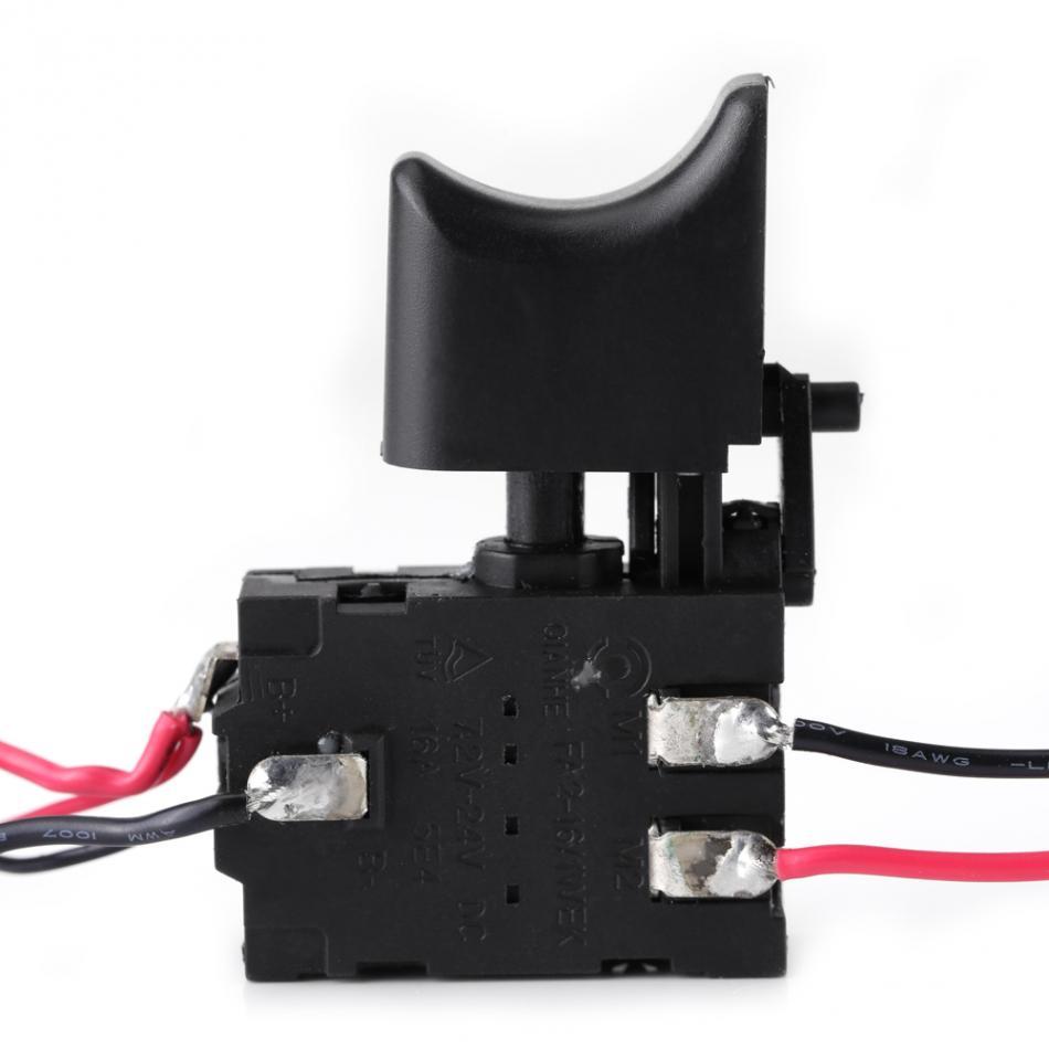 12/V recargable de litio taladro inal/ámbrico disparador de control de velocidad Interruptor con peque/ña luz Taladro el/éctrico interruptor