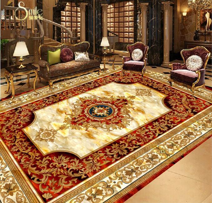 3d stereoscopic floor photo wallpaper custom 3d flooring Euporean style floor bedroom wallpaper luxury 3d waterproof floor<br><br>Aliexpress
