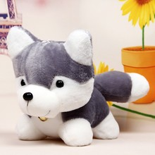 J249 Super Cute!!New Arrival 25cm Husky Plush Toy Simulation Dog Baby Sleeping Appease Doll Kids Birthday Gifts Wholesale