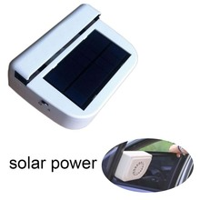 Portable Solar sun Power Car Fan Air Vehicle Radiator vent Auto Ventilator Cooler