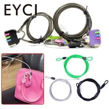 EYCI 200CM x 2.5 MM Cycling Sport Security Loop Cable Lock Bicycle Cable Lock