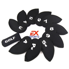 1set / 11pcs Golf Club Iron Set Putter Head Cover Case Protect Sports ES1380