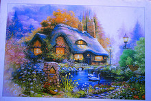 Near The Lake Jigsaw Puzzles 1000 Pieces Beautiful Landscape Jigsaw Puzzles Educational Toy DIY Painting Photo Jigsaw Puzzle