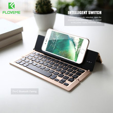 FLOVEME Universal Tablets Wireless Bluetooth Keyboard for iPad Air 1 2 for iPhone 6 7 Plus IOS Android Windows Stand PC Keypad