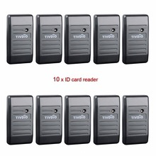 TIVDIO 10pcs Waterproof Proximity Card Reader Wiegand 26/34 EM-ID 125KHz Reader&ABS Shell Door Access Control System F9505H