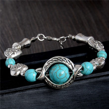 SHUANGR Wholesale Top Sale Women Bracelet Green Resin Stone Bracelet Silver Color Accessories Fashion Jewelry