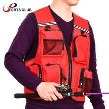 Outdoor Multi-Pocket Fishing Vest Breathable Active Wear Jacket for Fishing Photography Sports Hiking Cycling