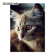 ZOOYA Diamond Embroidery 5D DIY Diamond Painting Cute Gray Cat Animal Diamond Painting Cross Stitch Rhinestone Mosaic BK131