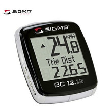 Sigma Bike Computer BC 12.12 Sports Cycling Wired Computer Speedometer Odometer Stopwatch Bicycle Cyclocomputer Ciclocomputador