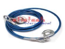 by dhl or ems 10pcs Tow Ropes 4M 1.5Tons Wire Cable High Strength  Hook Steel Wire Trailer Car Emergency Towing Rope blue color