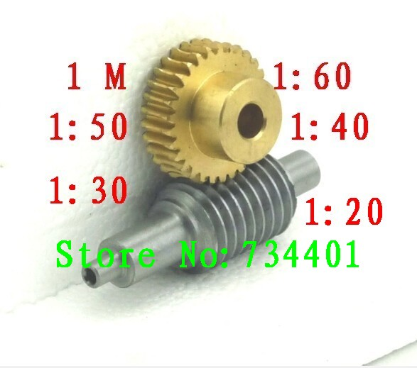 Free shipping/1M reduction ratio:1:20/1:30/1:40/1:50/1:60/copper worm /hole:10(8 or 6)mm/Meat Grinder Parts etc.<br>
