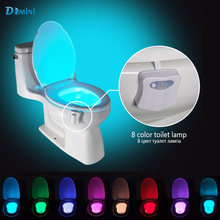 LED Toilet Lamp night Lights with Motion sensor 8 Color Toilet Bowl Lamp Activated NightLights Toilet Seat Nightlights Bathroom