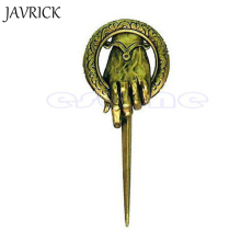 Unisex Alloy Brooches game of thrones brooch song of ice and fire vintage retro punk hand of the king pin for men and women(China)