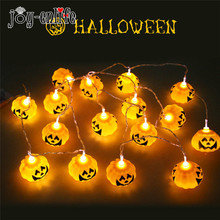 JOY-ENLIFE 16pcs Halloween Decoration Pumpkins LED String Lights Lanterns Lamp for DIY Halloween Home Bar Outdoor Party Supplies