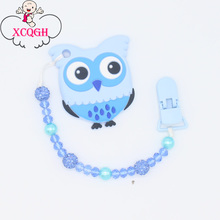 Buy XCQGH Bling Bling Nipple Holder Infant Toddler Newborn Pacifier Clip Chain Leash Strap Baby Teether Toy Holder Shower Gift