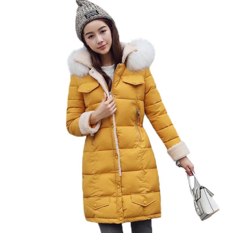 Maxi Coats Hooded Fur Collar Winter Jacket Women Plus Size Warm Parka Mujer Winter Coat Women Thicken Cotton Jacket FemaleОдежда и ак�е��уары<br><br><br>Aliexpress