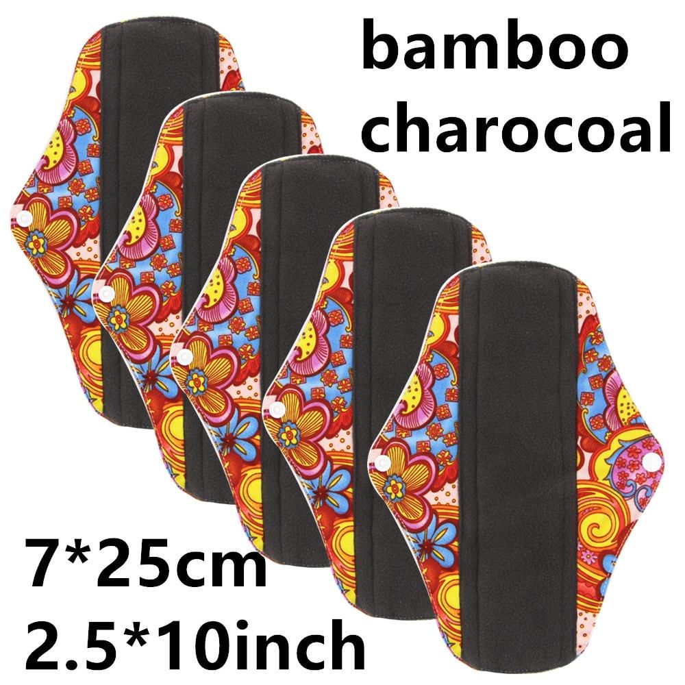 New Reusable Bamboo Charocoal Washable Menstrual Pad Mama Sanitary Towel Pad Practical Feminine Hygiene Product 1pc Pretty 29