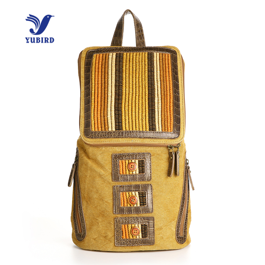 YUBIRD Brand Fashion Canvas Backpack Female Casual Womens Backpack Vacation Travel Backpack School Bags Girls 2017<br>