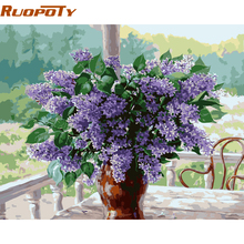 RUOPOTY Flower Home Decor Diy Painting By Numbers Wall Art Canvas Painting Hand Painted Acrylic Paint Kits 40x50cm Home Artwork